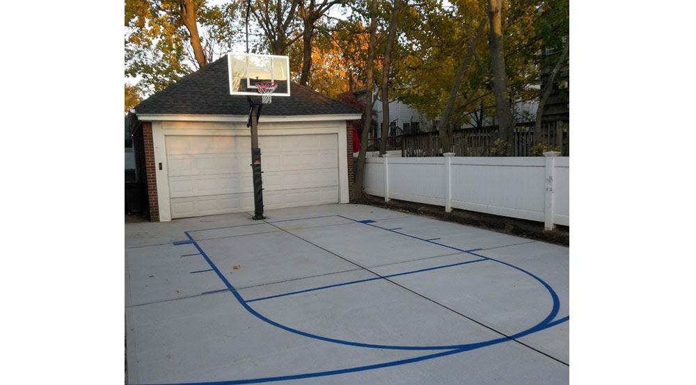 Basketball Court Installation Basketball Court Painting Basketball