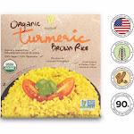 Healthee Organic Turmeric Brown Rice - 3 Bowls x 216 Grams (7.6 oz.)