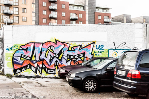 Street Art In Dublin Docklands (Ireland) by infomatique