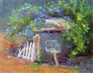 Apple shed plein air by BECKY JOY