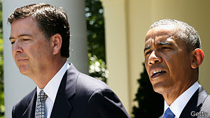 James Comey y Barack Obama