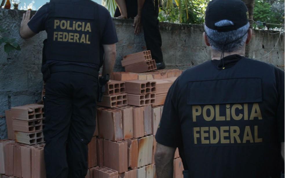 A Operação Monte Gordo cumpre seis mandados de prisão preventiva e outros seis de busca e apreensão em Camaçari,e Nilo Peçanha nesta quinta-feira (8) (Foto: Divulgação/Polícia Federal)