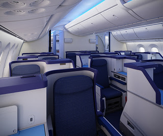 """""""ANA Business staggered seat"""""""