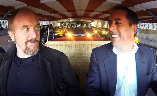 Jerry Seinfeld and Louis CK in Small Cars and Big Yachts, Getting Coffee