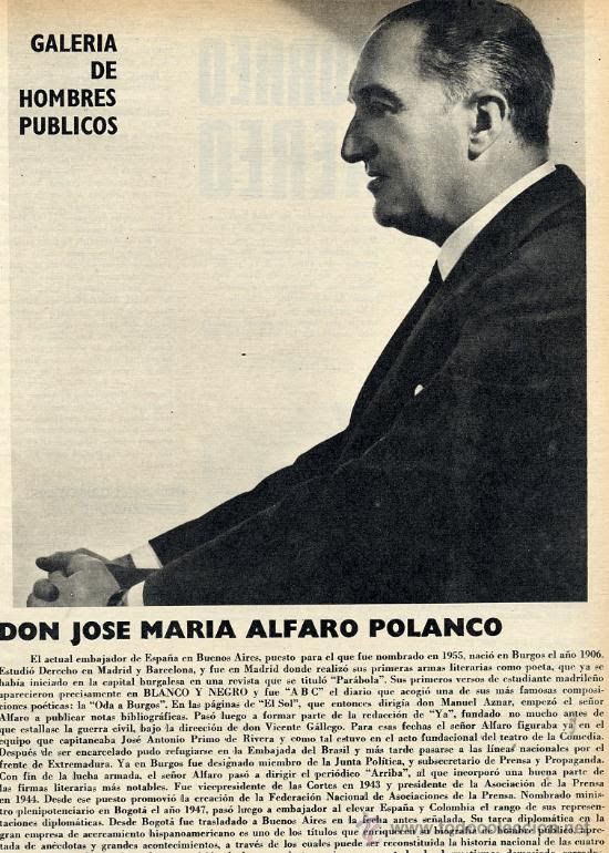 JOSE MARIA ALFARO POLANCO 1969  BURGOS HOJA REVISTA (Papel - Varios)