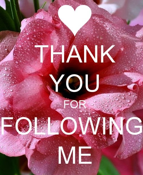 Thank you for following me