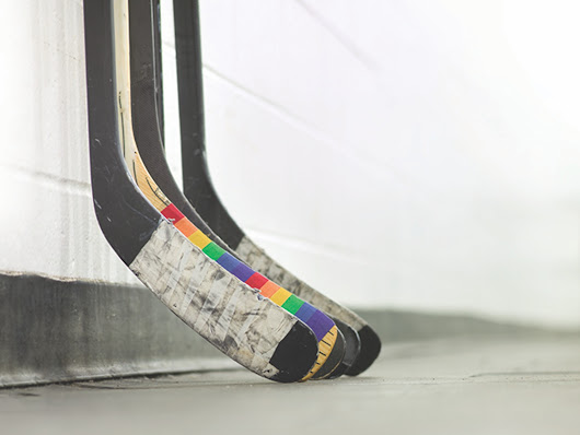 Pride Tape - Hockey tape to support young LGBTQ players by Calder Bateman Communications —  Kickstarter