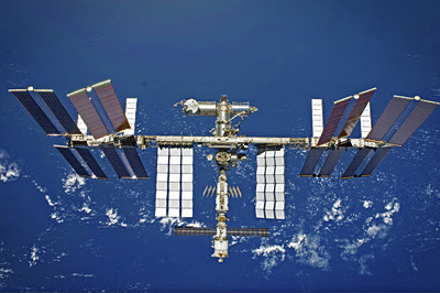 International Space Station as viewed from Space Shuttle