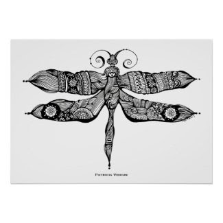 Whimsy Dragonfly Poster