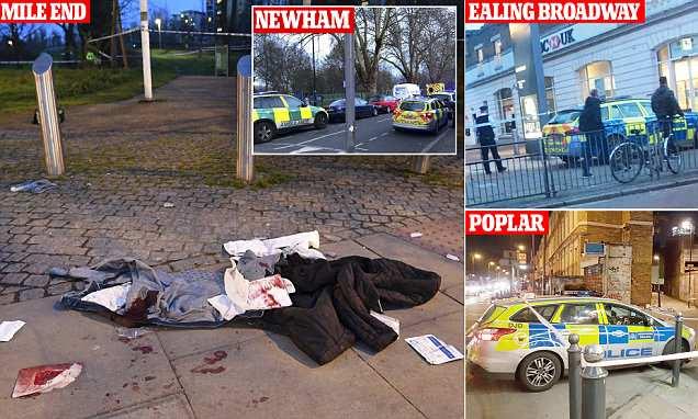 London stabbings: 6 teens stabbed in 4 separate knife attacks