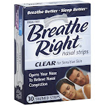 Breathe Right Nasal Strips, Clear, Small/Medium - 30 count