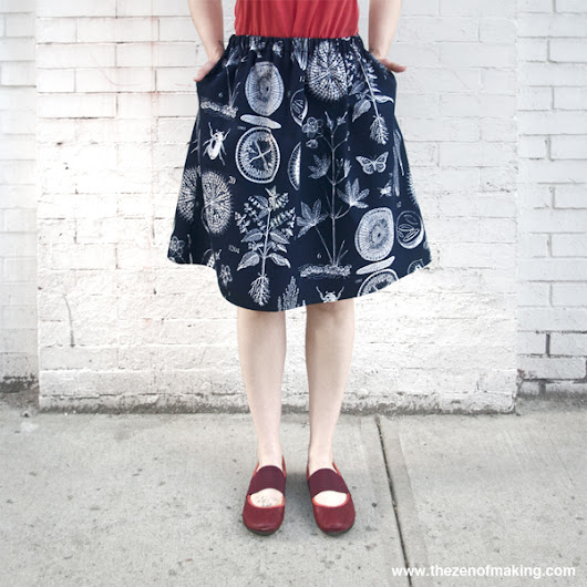 Tutorial: Perfect Summer Skirt with Pockets! | Red-Handled Scissors