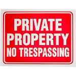 """10 Pack Private Property No Trespassing Sign 12"""" x 9"""" for Indoor Outdoor Gates"""