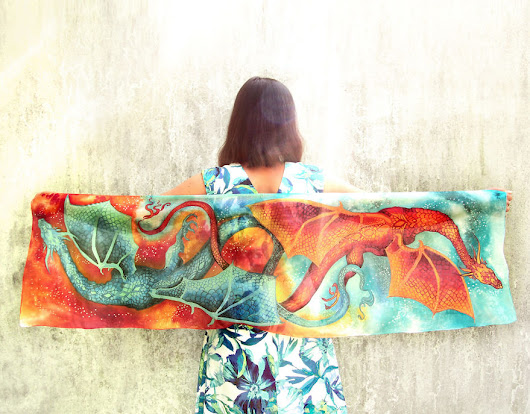 I Painted Dancing Dragons On Silk So That You Can Tango With Mystic Creatures