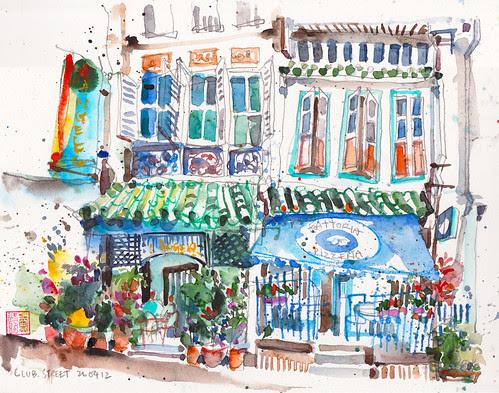 Shophouses @ Club Street by PaulArtSG