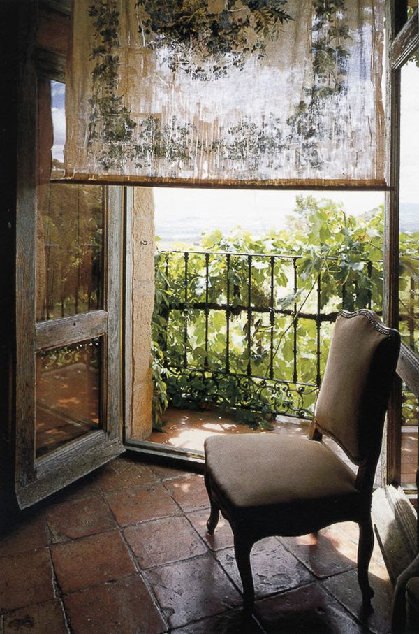 Warm and Cozy Spanish Interior with Beautiful Outside View ...