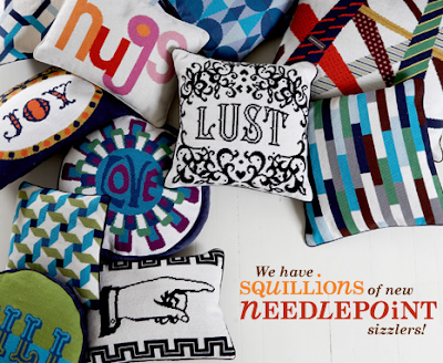 Have You Seen These Brand New Needle Point Pillows From Jonathan Adler