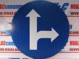 Biển báo tròn 301f Ø70cm - đi theo hướng đi thẳng hoặc rẽ phải