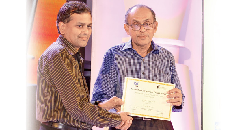 Daily News Website wins Merit Award at Journalism Awards for Excellence 2017