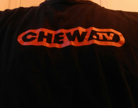 FREE ChewTV T-shirt and Stickers