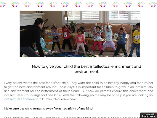 How to give your child the best intellectual enrichment and environment