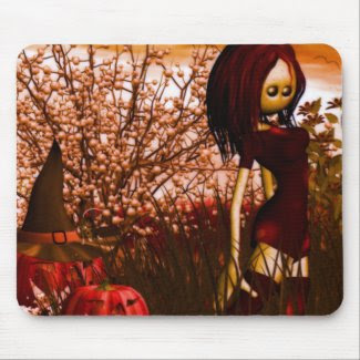 Halloween Sunset Mouse Pad