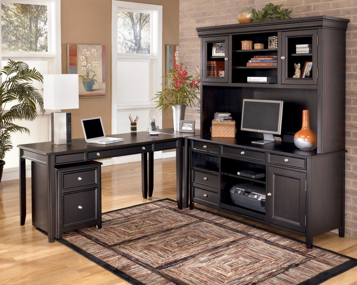 Carlyle Office Furniture Set, Signature Design By Ashley H371 The ...