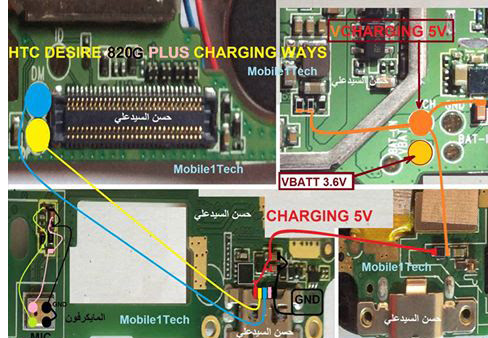 HTC 820G Plus Usb Charging Problem Solution Jumper Ways