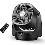 GeekAire Fan, Air Circulator Cooling Fan Compatible with Alexa and Google, High Velocity 3D Oscillating Fan with 4 Speeds, 6h Timer, AI Mode, Black