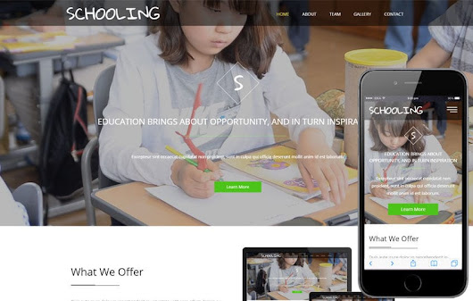 Schooling a Education Category Flat Bootstrap Responsive Web Template