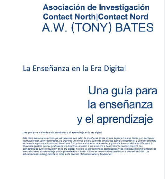 A Spanish version of 'Teaching in a Digital Age' is now available | Tony Bates
