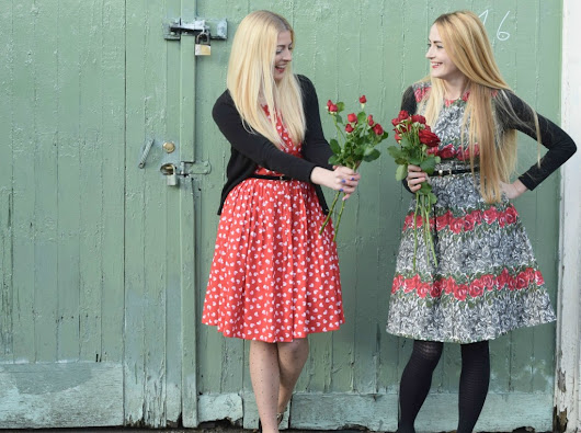 Red Roses and Valentine's Day Poses - She and Hem