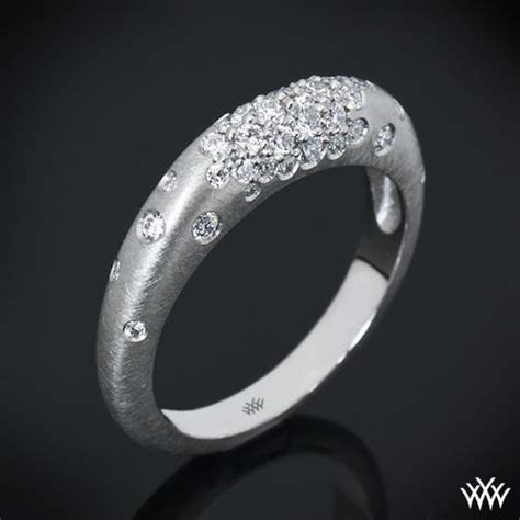 "Platinum ""Champagne Pave"" Diamond Right Hand Ring   Pave"