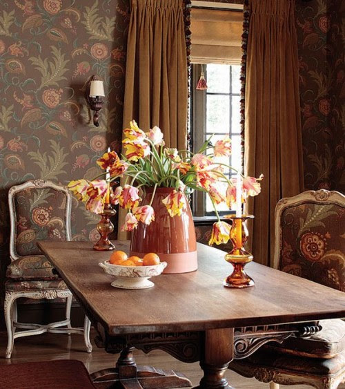 French Interiordesign Ideas: Wallpaper And Country French Style