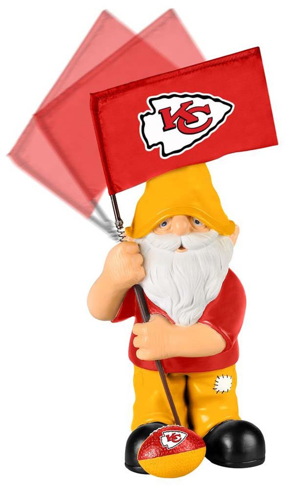 Amazon.com : Kansas City Chiefs Springy Flag Gnome : Patio, Lawn ...