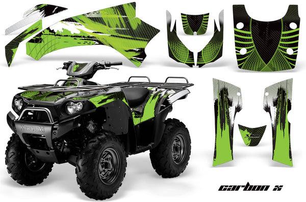 Atv Graphics Kit Quad Decal Wrap For Kawasaki Brute Force 750i 2005 2011 Carbonx Green