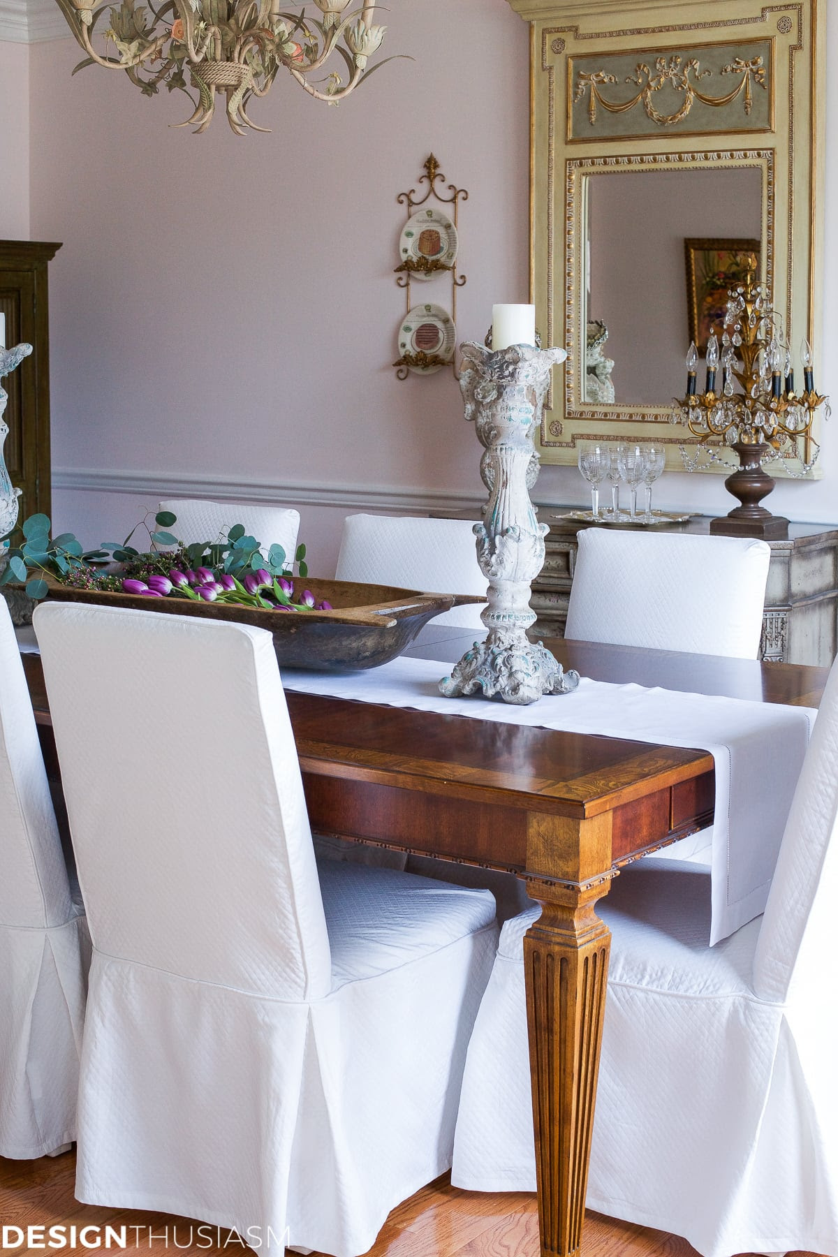 Elegant dining rooms | French Country style | Designthusiasm.com
