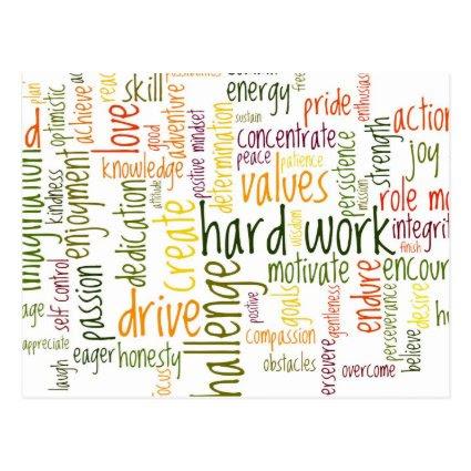 Motivational Words #2 positive encouragement Post Cards