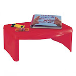 HearthSong - Portable Folding Lap Desk With Storage Activity Tray, Red