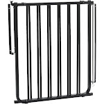 """Cardinal Gates 30"""" x 27"""" to 42.5"""" Stairway Special Outdoor Safety Gate, Black"""