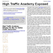 High Traffic Academy Exposed
