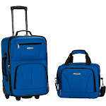 Rockland 2-Piece Wheeled Luggage Set, Blue