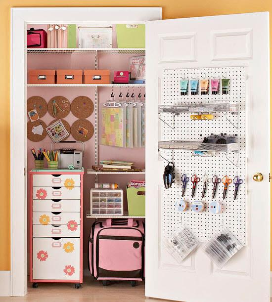 Inspiration} Craft Closet Organization - The Inspired Room