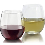 Zeppoli 4-Piece Stemless Wine Glass Set, Elongated and Shatter-Resistant Glass, 15oz 8-Pack