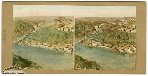 Fotografía estereoscópica de Toledo. Jean Laurent hacia 1860. Ministerio de Cultura