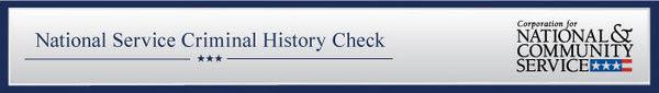 Criminal History Check Banner