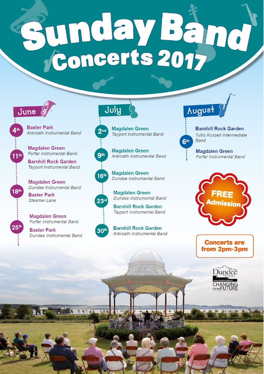 Sunday Band Concerts 2017   #dundeewestend   #dundee
