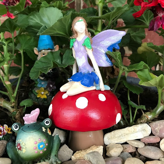 Fairy Garden Mushrooms Made From Salt & Pepper Shakers - Intelligent Domestications