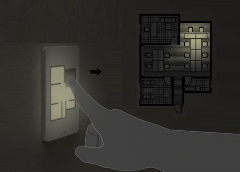 Saeba com custom floor plan light switches dispel shadows of doubt - Floor plan light switch ...