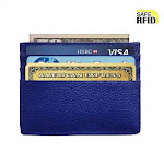 Nowbe (Blue) - Slim Wallet RFID Blocking Minimalist Wallet Unisex Slim Card Holder with Window